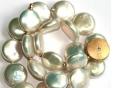 Coinsperlenkette mit 750°°° Goldschließe und Brillant