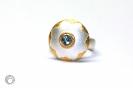 Aquamarinring in 925°°° Silber, 900°°° Gold und Feingold